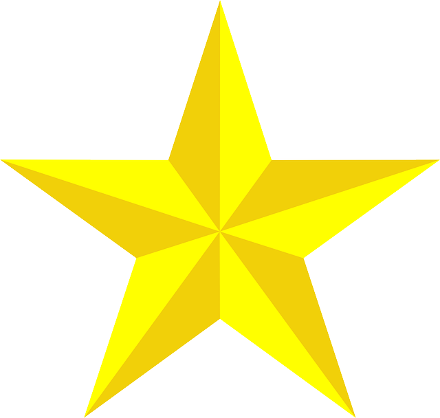 star yellow 3d